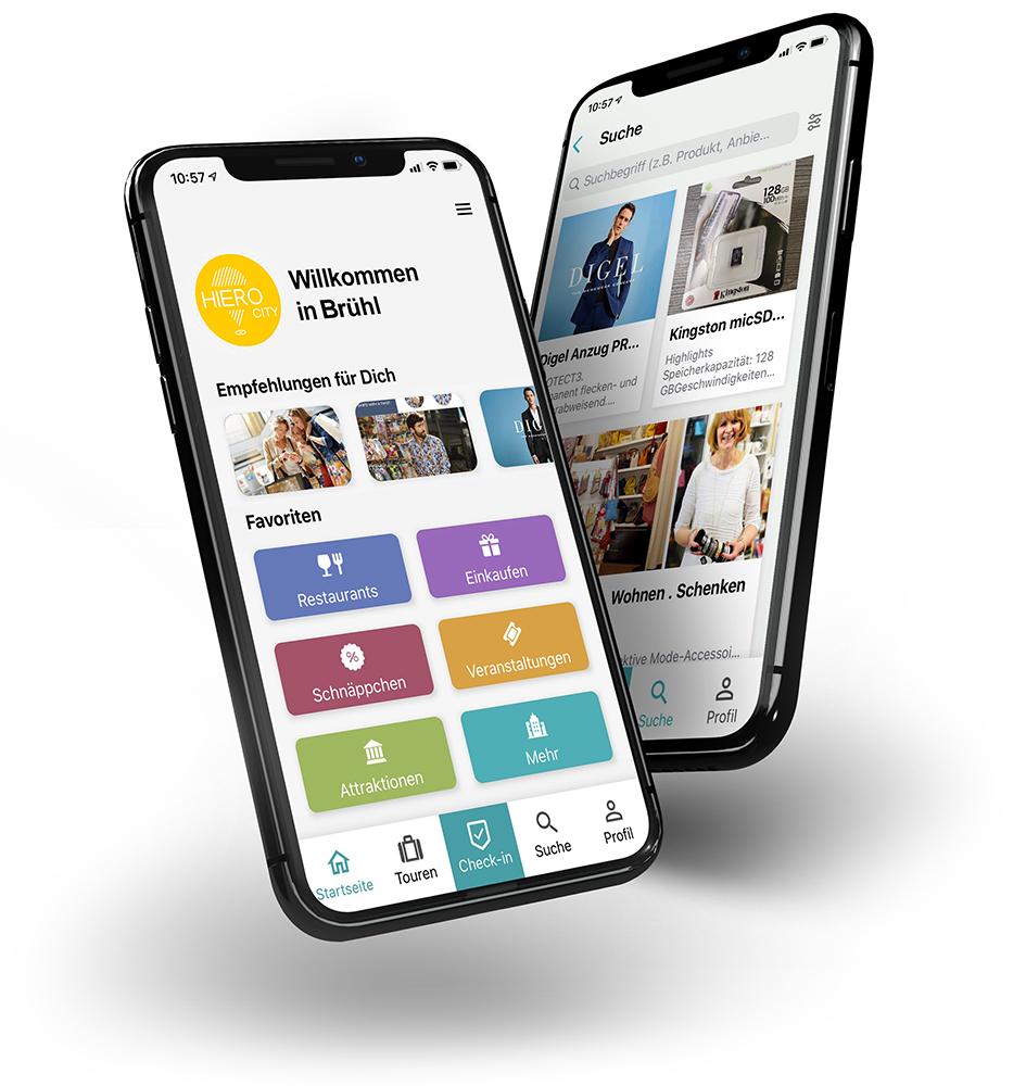 HIERO Brühl App – Brühl digital e.V. - Verein und DigitalCoaches für Digitalisierung Stadt Brühl. Stadtmarketing. CityApp