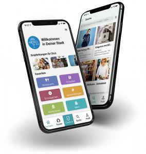 HieroCity. Die Stadt App. Dein Erlebnis-Assistent. Die City App für Stadterlebnis Stadtmarketing Einzelhandel Gamification Events und Smart Shopping. Belebend durch den Shared Activity Builder (KI)